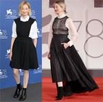 Alba Rohrwacher Wore Christian Dior & Christian Dior Haute Couture To 'The Lost Daughter' Venice Film Festival Photocall & Premiere