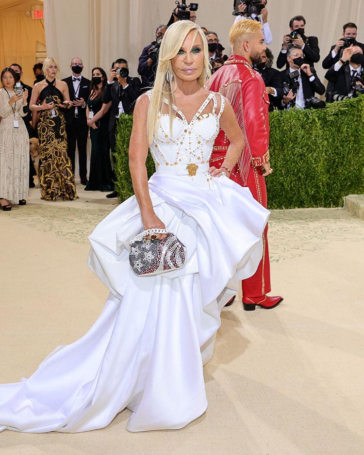 Donatella Versace in Atelier Versace - 2021 Met Gala