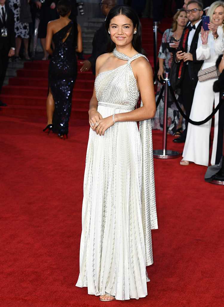 Emma Raducanu Wore Christian Dior To The 'No Time To Die' World Premiere