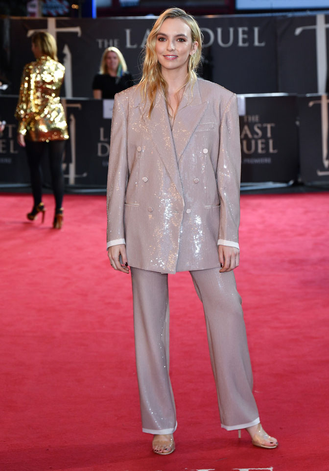 Jodie Comer Wore Gucci To 'The Last Duel' London Premiere