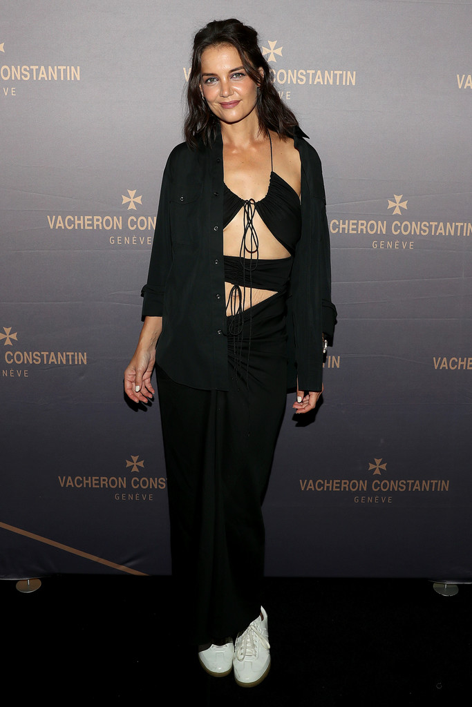 Katie Holmes Wore Christopher Esber To The Vacheron Constantin Flagship Grand Opening