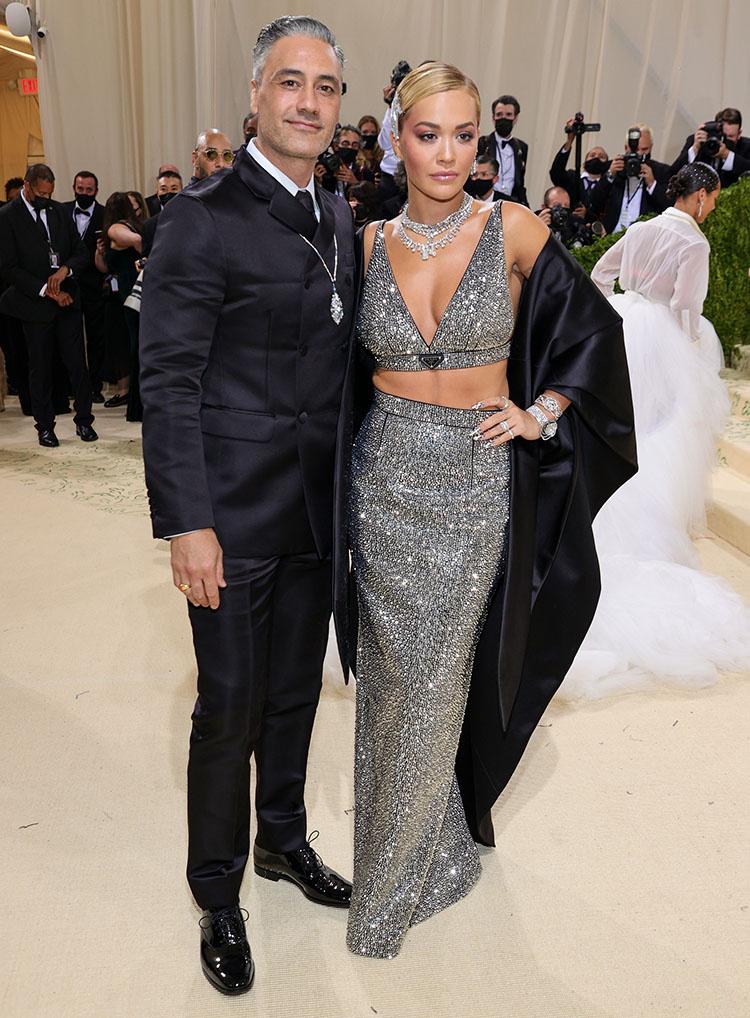 Taika Waititi and Rita Ora in Prada - 2021 Met Gala