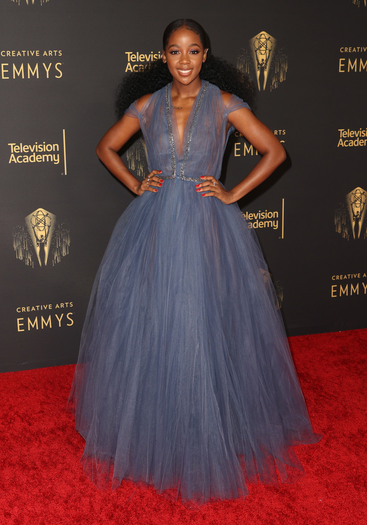 Thuso Mbedu in Reem Acra - 2021 Creative Arts Emmys