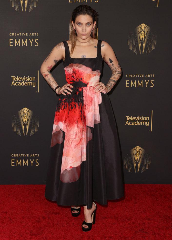 Paris Jackson in Alexander McQueen - 2021 Creative Arts Emmys