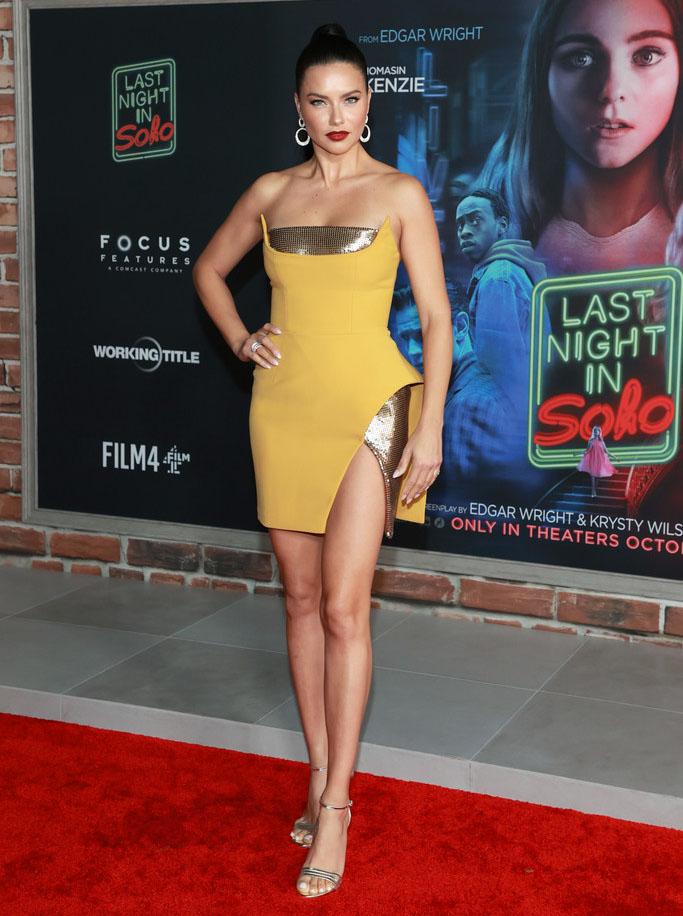 Adriana Lima Wore Azzi & Osta To The 'Last Night In Soho' LA Premiere