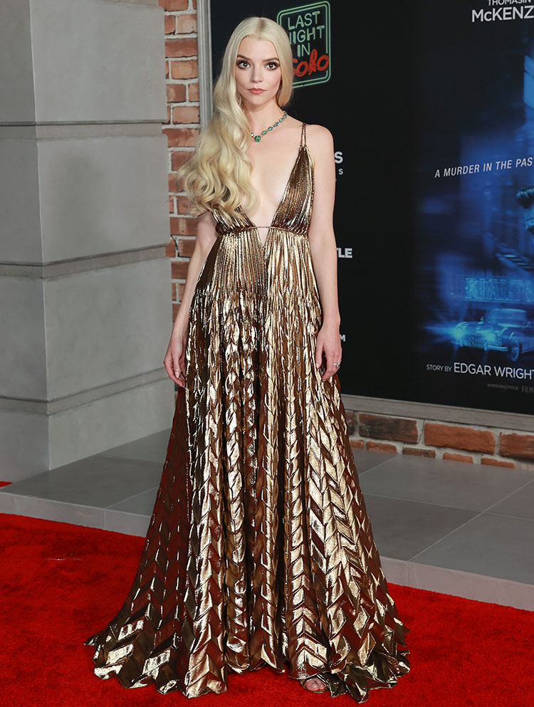 Anya Taylor-Joy Wore Christian Dior Haute Couture To The 'Last Night In Soho' LA Premiere