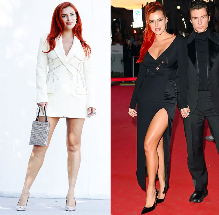 Bella Thorne Wore Area & Versace To The 'Time Is Up' Photocall & Premiere