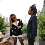 Beyonce Wore Black & White Sergio Hudson In London