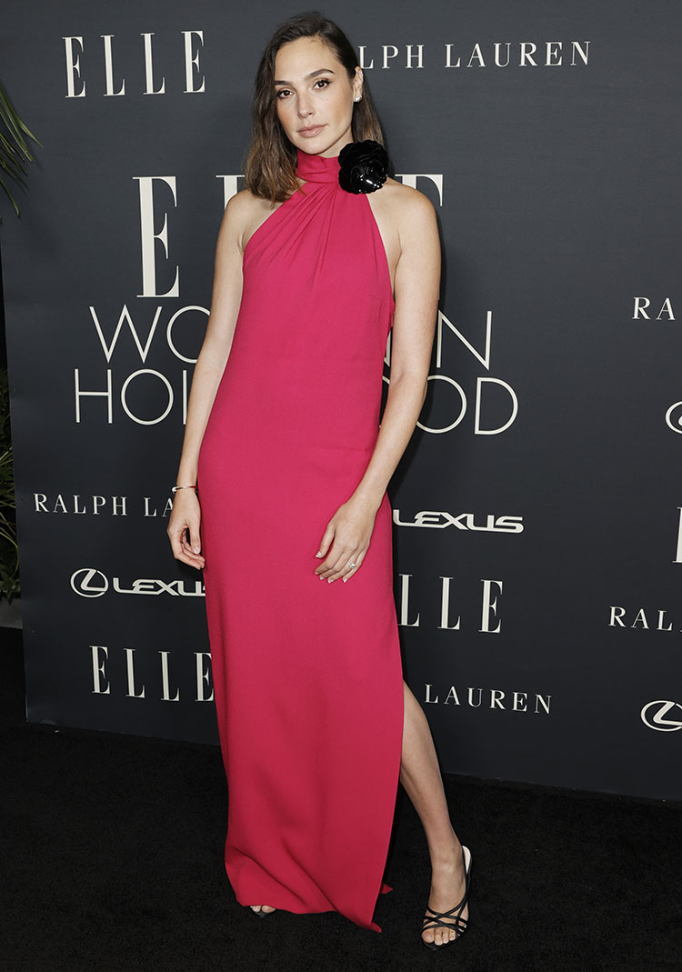 Gal Gadot Wore Saint Laurent To ELLE's Women In Hollywood Celebration