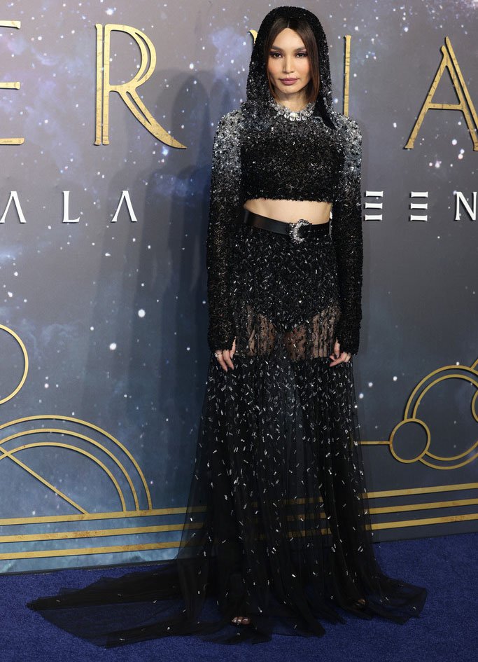 Gemma Chan Wore Zuhair Murad Couture To The 'Eternals' London Premiere
