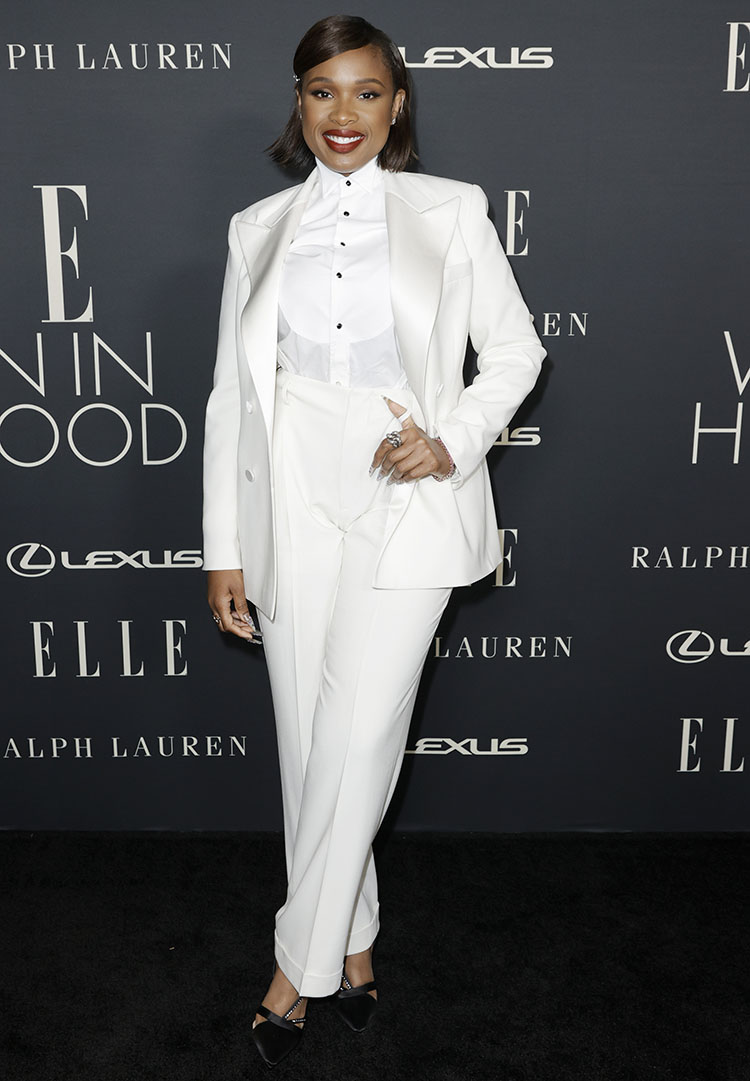 Jennifer Hudson Wore Ralph Lauren Collection To ELLE's Women In Hollywood Celebration
