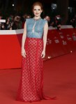 Jessica Chastain Wore Gucci To The 'The Eyes Of Tammie Fay' Rome Film Festival Premiere & Photocall