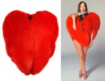 Kacey Musgraves' Saint Laurent Red Heart-Shaped Coat
