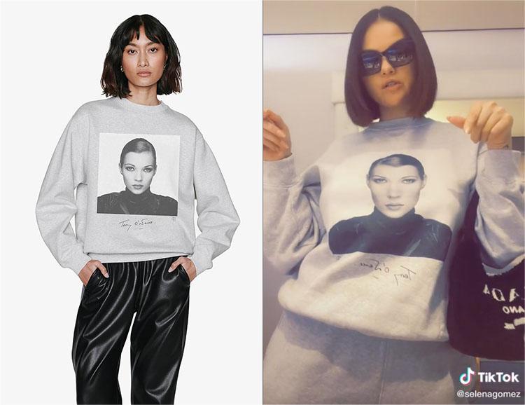 Selena Gomez's Anine Bing Ramona Sweatshirt