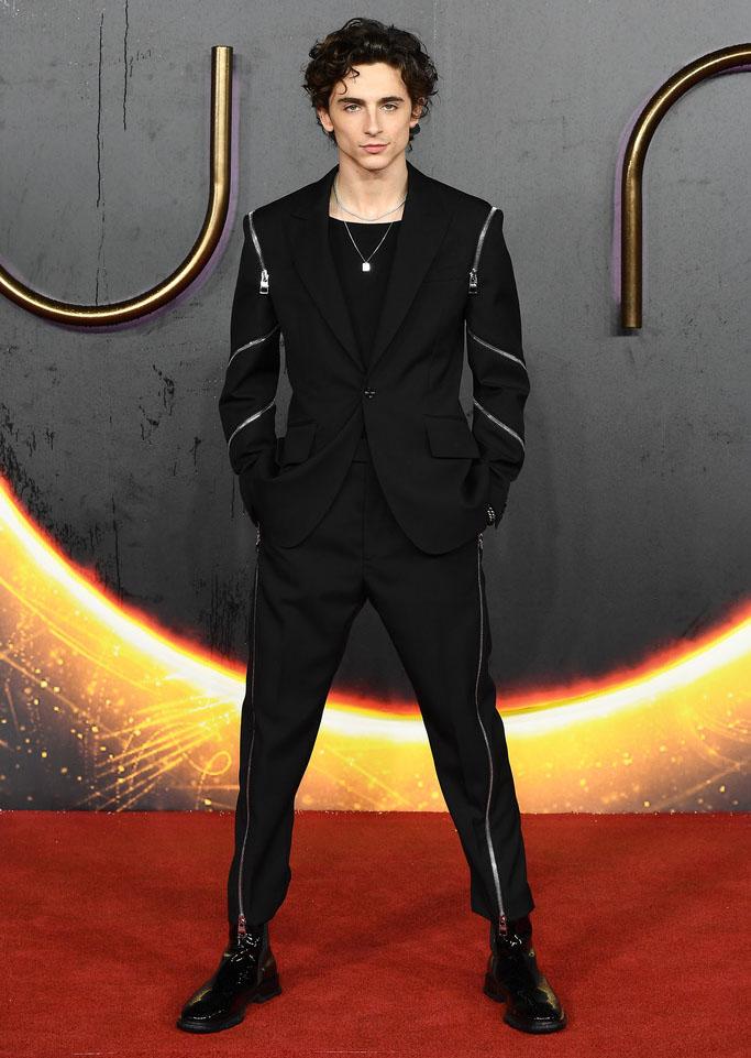 Timothée Chalamet Wore Alexander McQueen To The 'Dune' London Premiere