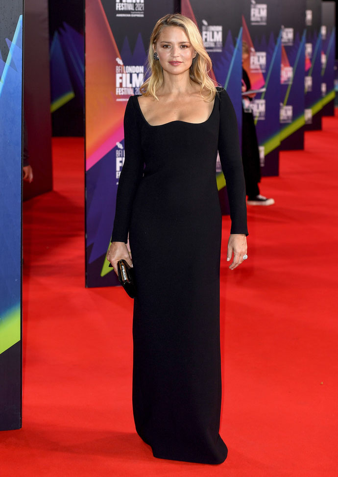 Virginie Efira Wore Saint Laurent To The 'Benedetta' London Film Festival Premiere