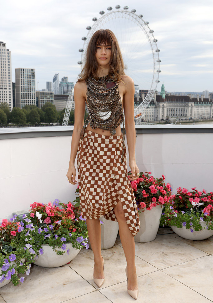 Zendaya Wore Andreas Kronthaler for Vivienne Westwood To The 'Dune' London Photocall