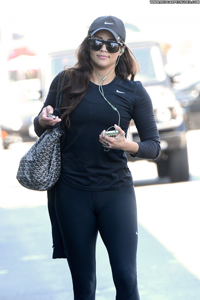 Paula Patton Los Angeles Los Angeles Gym Celebrity Beautiful Posing