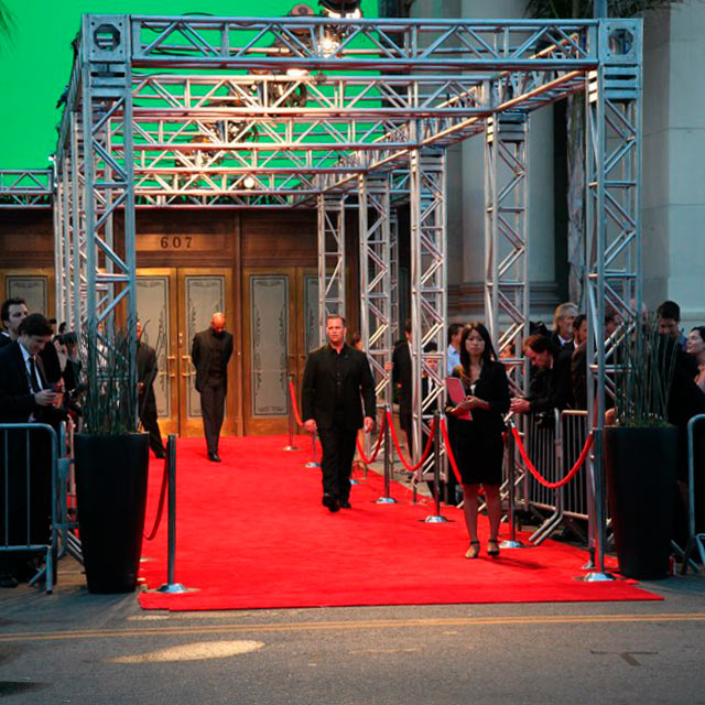 Truss Systems Rental For Lighting DJ Trade Show Stage