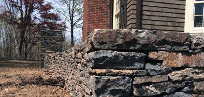 landscape design rock retaining walls