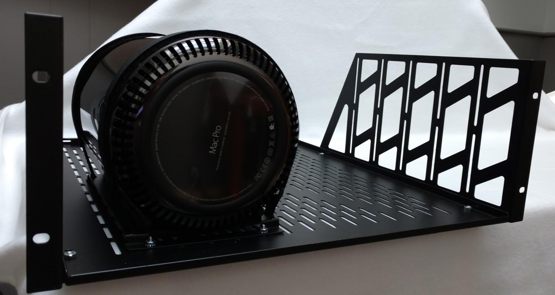 redco mac pro computer cradle and 4u rackshelf
