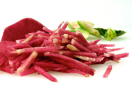 Shredded Watermelon Radish