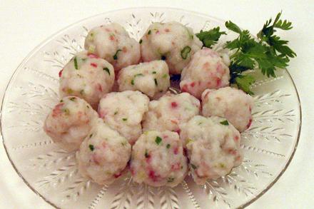 Ham and Scallion Fish Balls