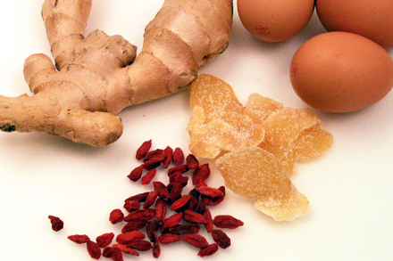 Ginger, Goji Berries and Egg