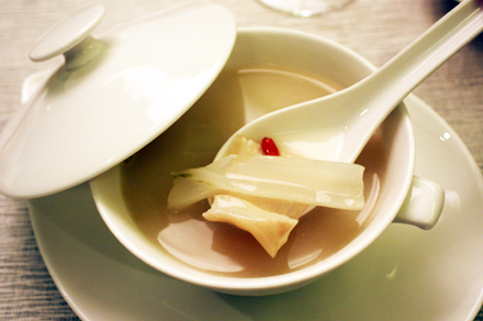 Shark's Bone Soup with Fish Maw and White Cabbage