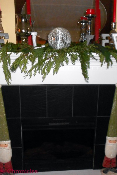 Mercury Glass Christmas Mantel