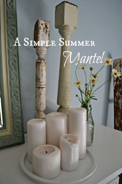 Simple Summer Mantel