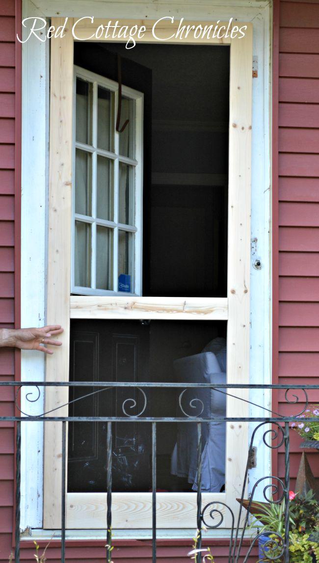 Brand new DIY Wood Screen Door Tutorial - Red Cottage Chronicles UR93