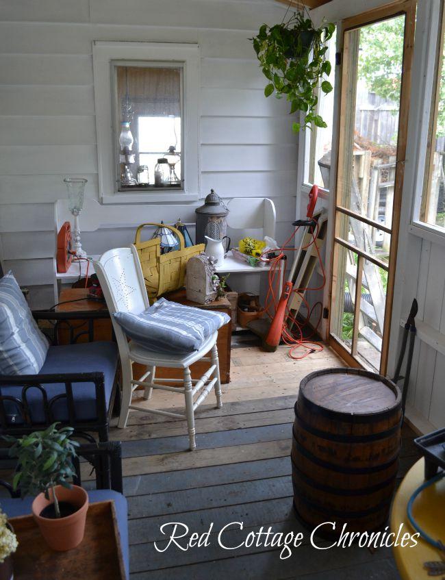 Screen porch reno progress