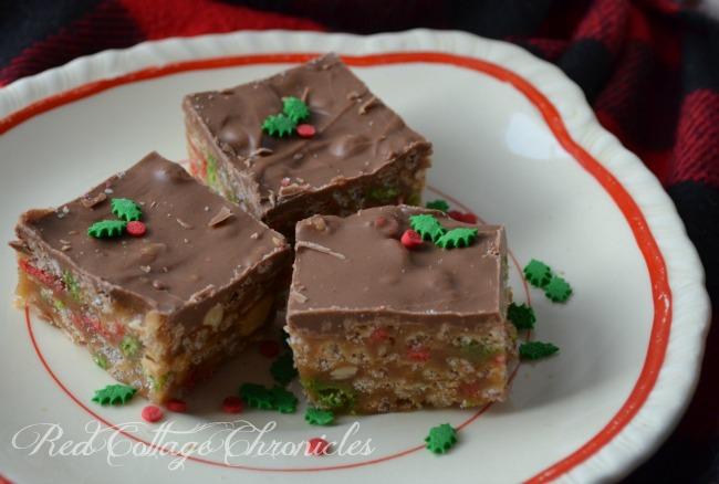 Holiday Rice Krispie Sweet Marie Bars