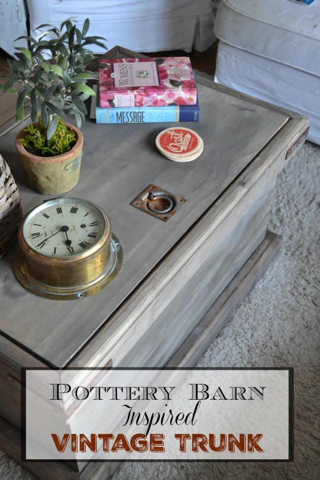 DIY Pottery Barn Rebecca trunk
