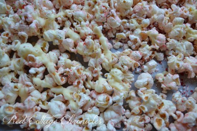 Festive Candy Cane popcorn