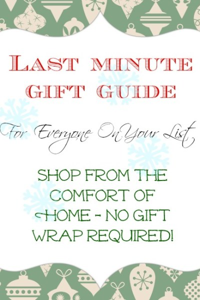 Last minute gift ideas (without leaving home)!