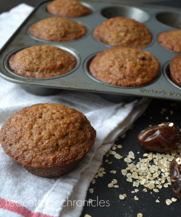 A hearty grab and go breakfast. Oatmeal muffins!