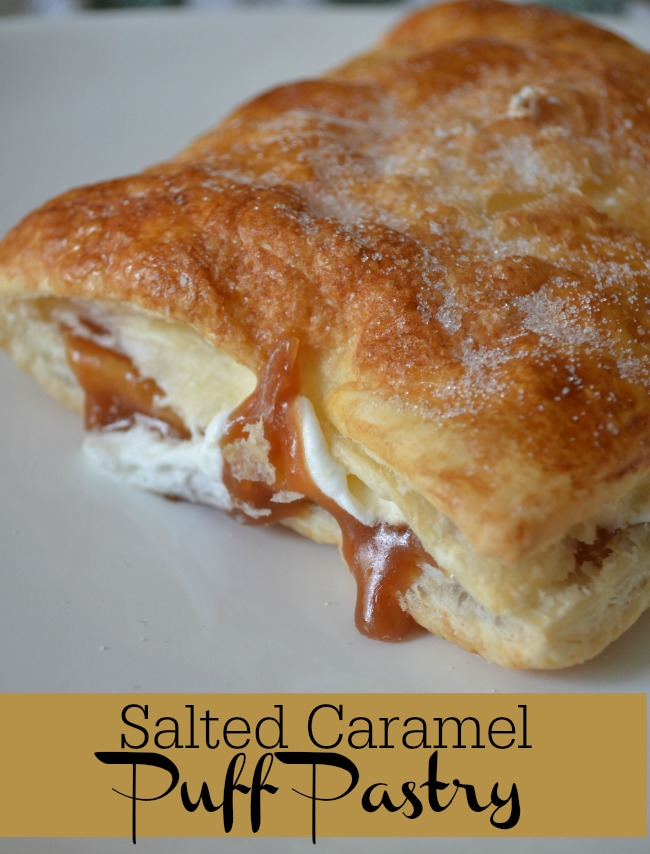 Layers of buttery pastry surrounds a delicious salted caramel sauce and fresh whipped cream making this Salted Caramel Puff Pastry a real treat
