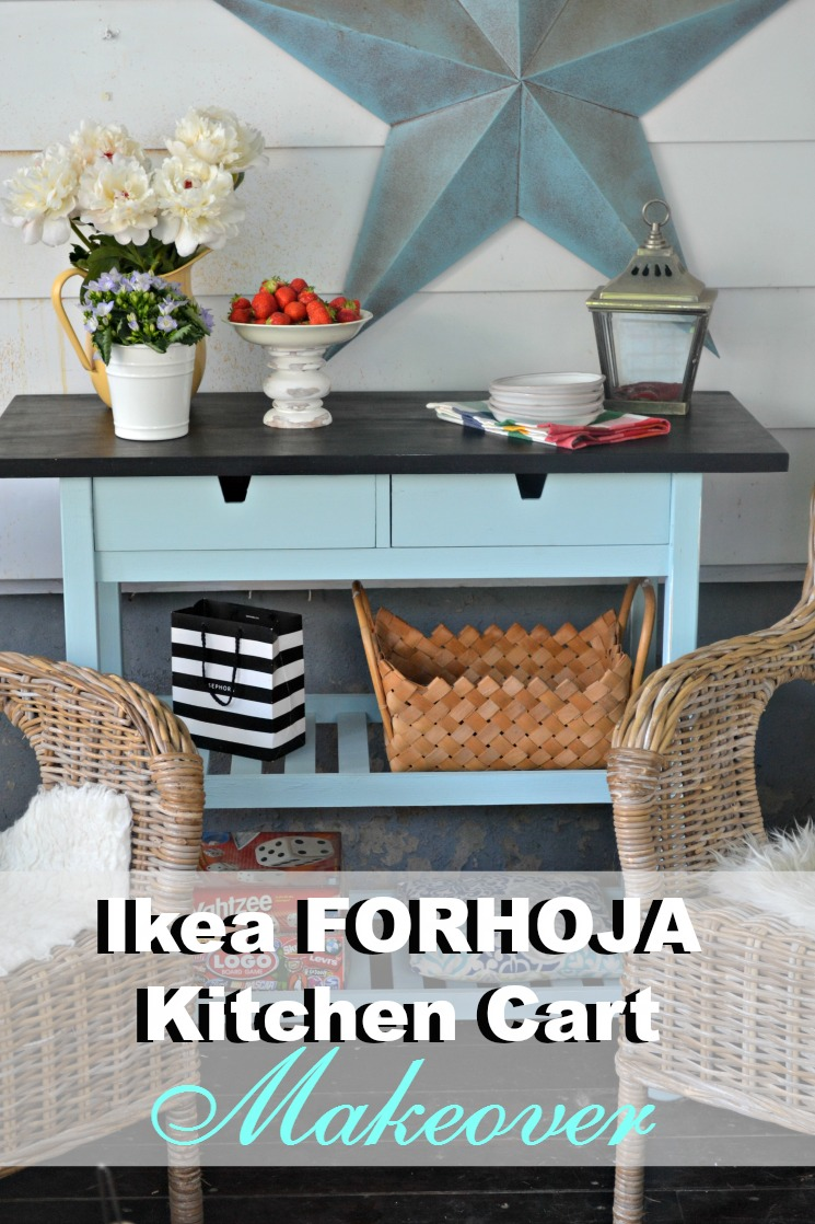 With this simple Ikea Kitchen Cart hack take a simple Forhoja cart and make it your own