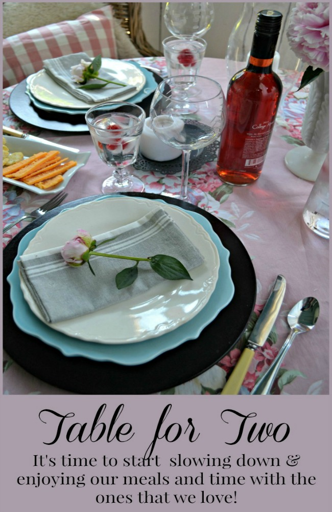 Tablescapes - Setting a table for two