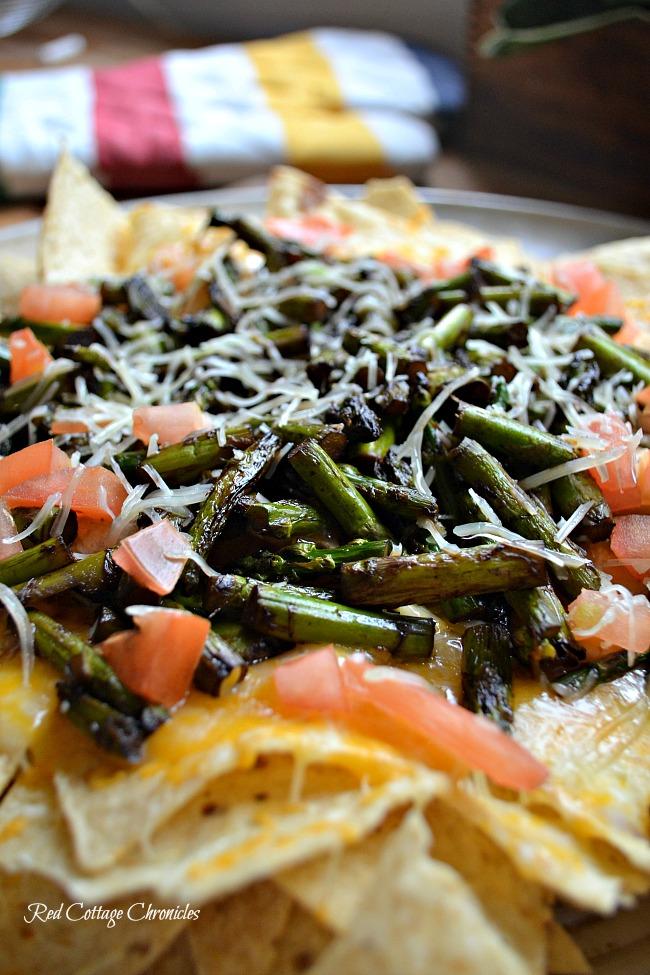 Grilled Asparagus Nachos