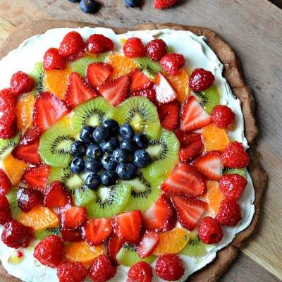 Chocolate Fruit Pizza