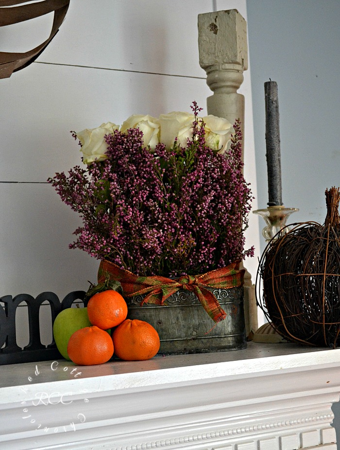 Inexpensive Autumn Mantel Ideas