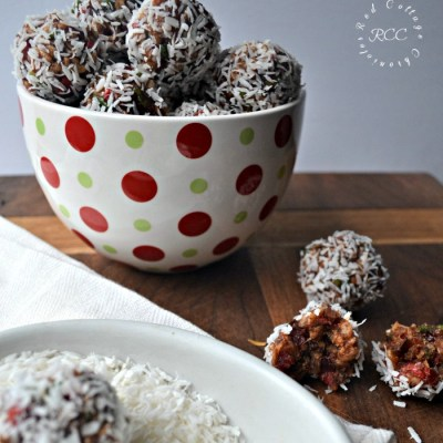 Christmas Cookies Week – Coconut Cherry Snowballs