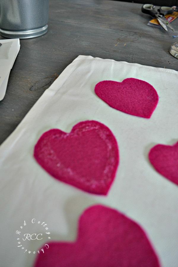 No sew crafts - easy no sew valentine pillow cover