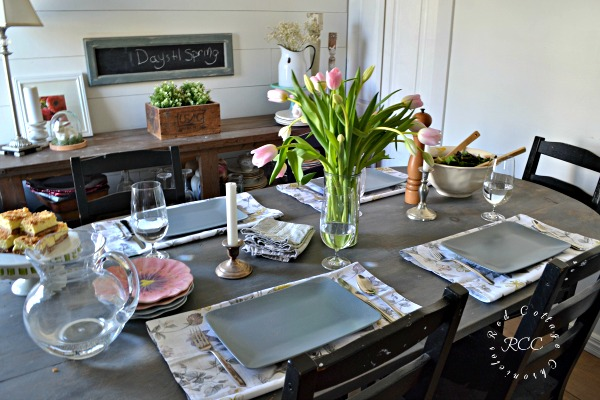 Everyday tablescapes encourage families to sit and mingle around the ...