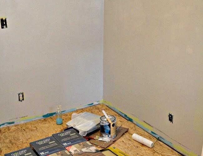 Basement Bedroom Progress