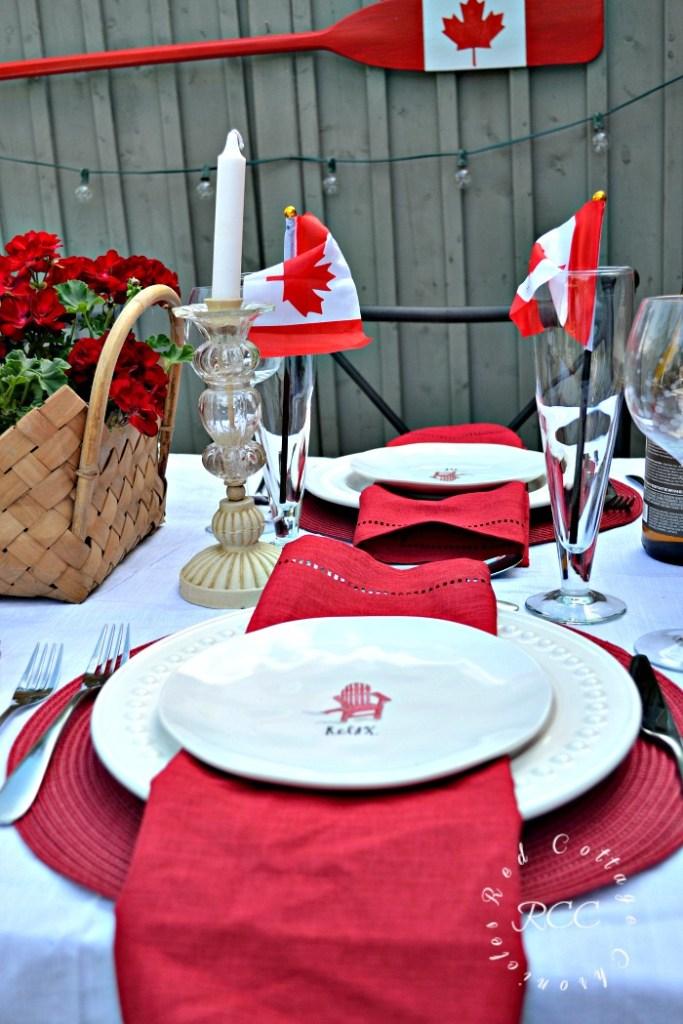 Canada Day Tablescape ideas