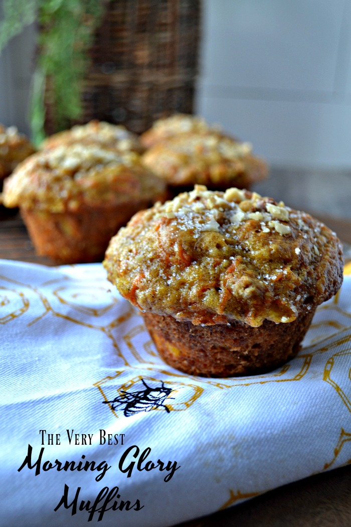 Recipe for Morning Glory Muffins packed with yummy goodness
